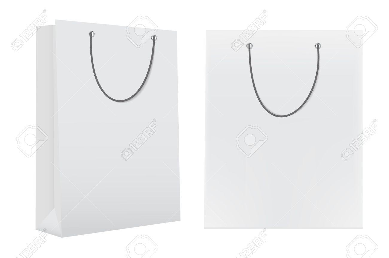 shopping bag template for advertising and branding vector illust
