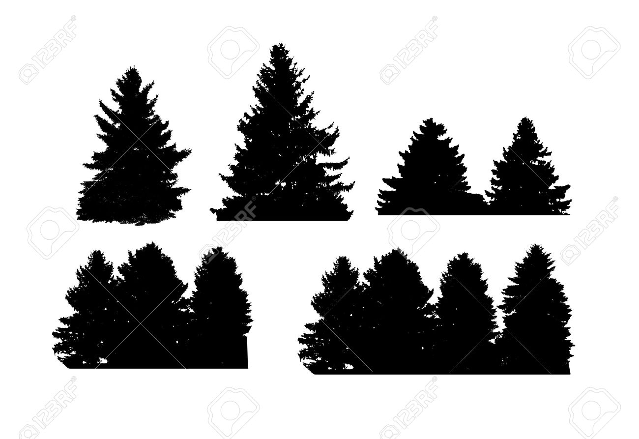 Image of Nature, Tree Silhouette. Vector Illustration EPS10 - 52814210
