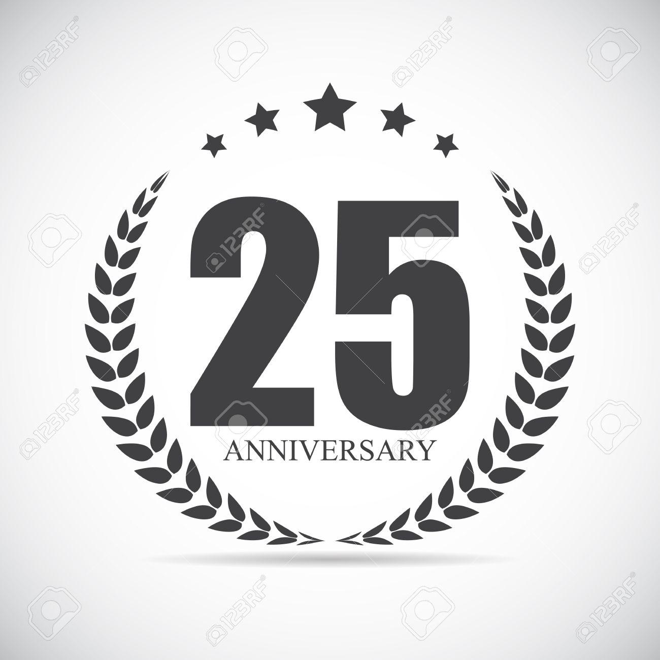 template logo 25 years anniversary vector illustration eps10 royalty