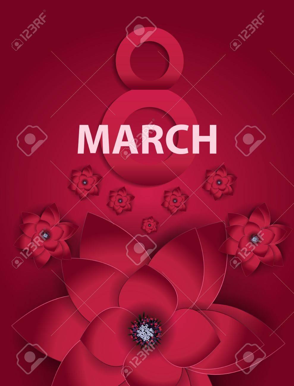 455b3d576 Día Internacional del Cartel feliz de las mujeres s de felicitación del 8  de marzo de