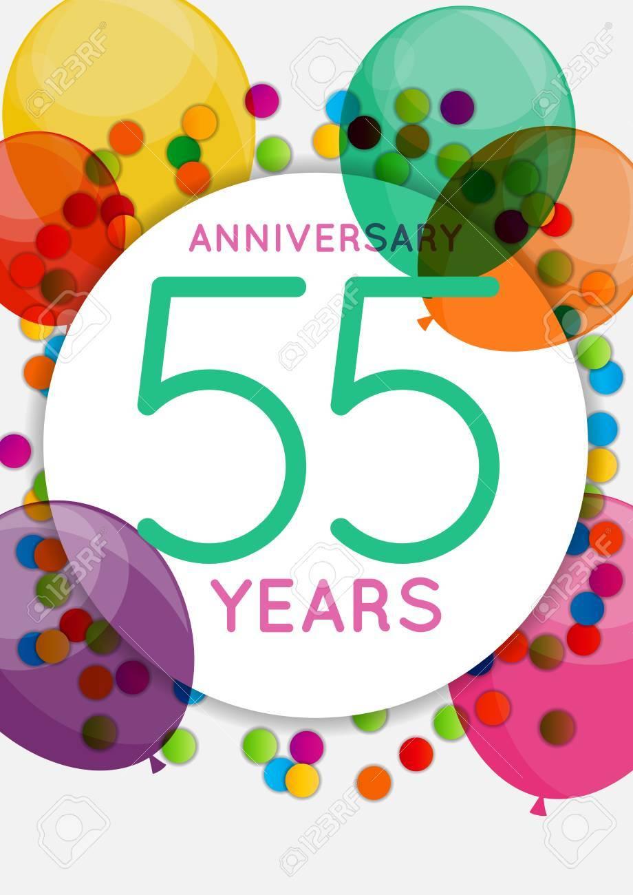 Vorlage 55 Jahre Jubiläum Herzlichen Glückwunsch, Grußkarte ...
