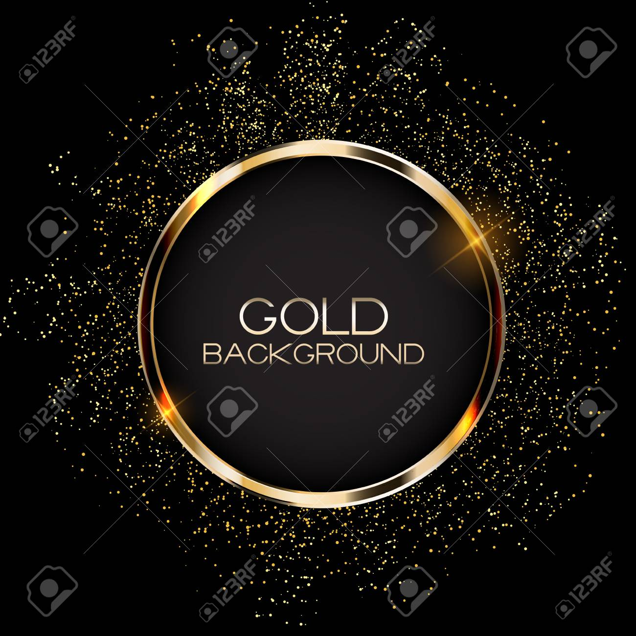 Abstract Card with Golden Frame Vector Illustration EPS10 - 115407411