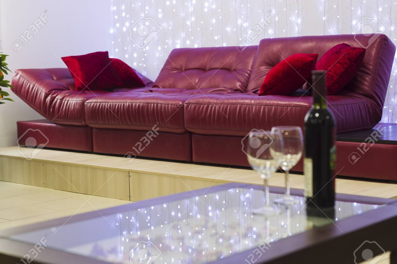 Surprising Bottle Of Wine With A Glass On The Coffee Table On A Background Gamerscity Chair Design For Home Gamerscityorg