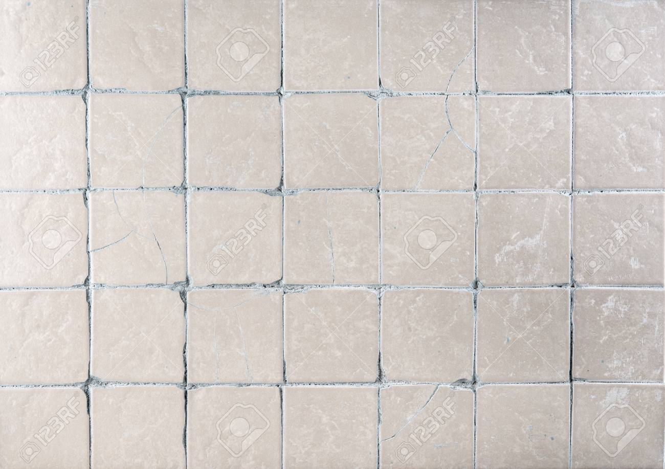 Background texture of retro kitchen ceramic tiles, close-up