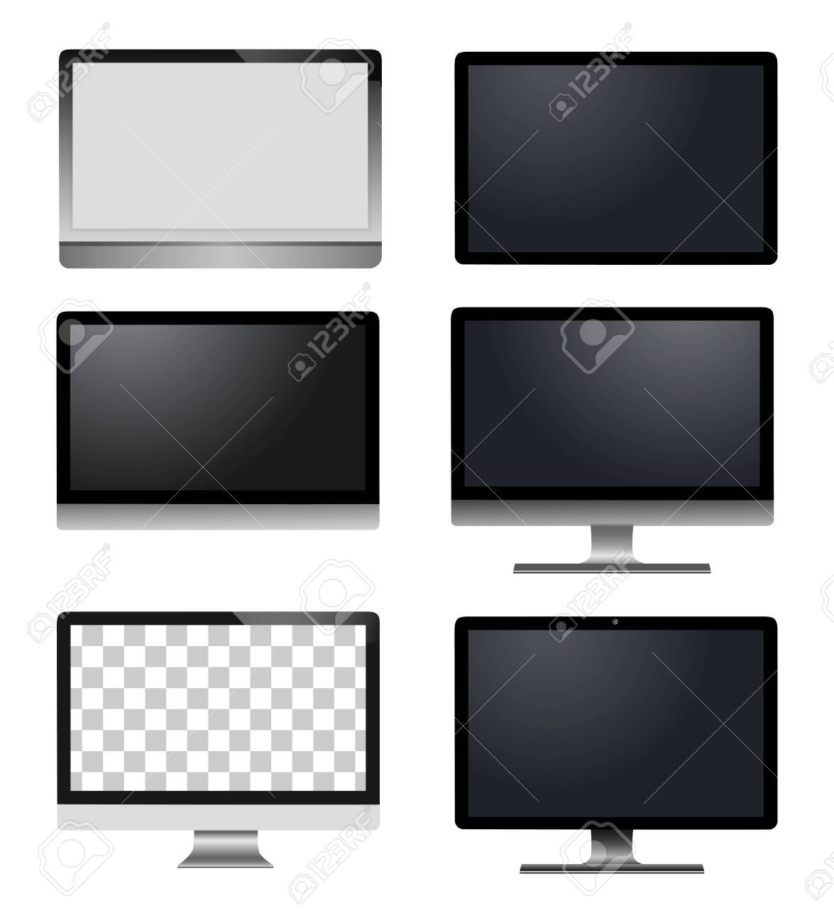 Realistic vector laptop, tablet computer, monitor isolated - 133995404