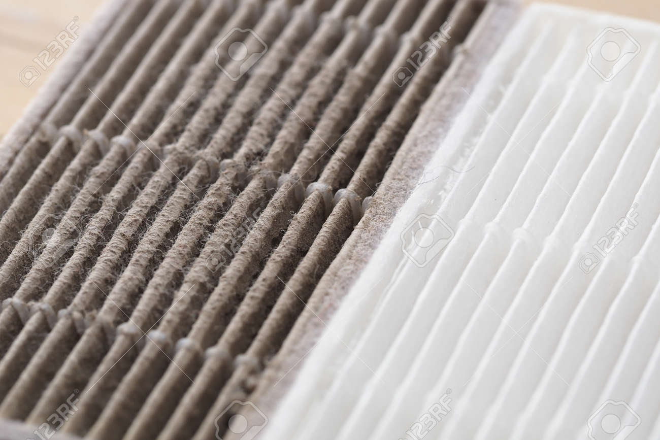 new and dirty air filter for robot vacuum cleaner - 169793034