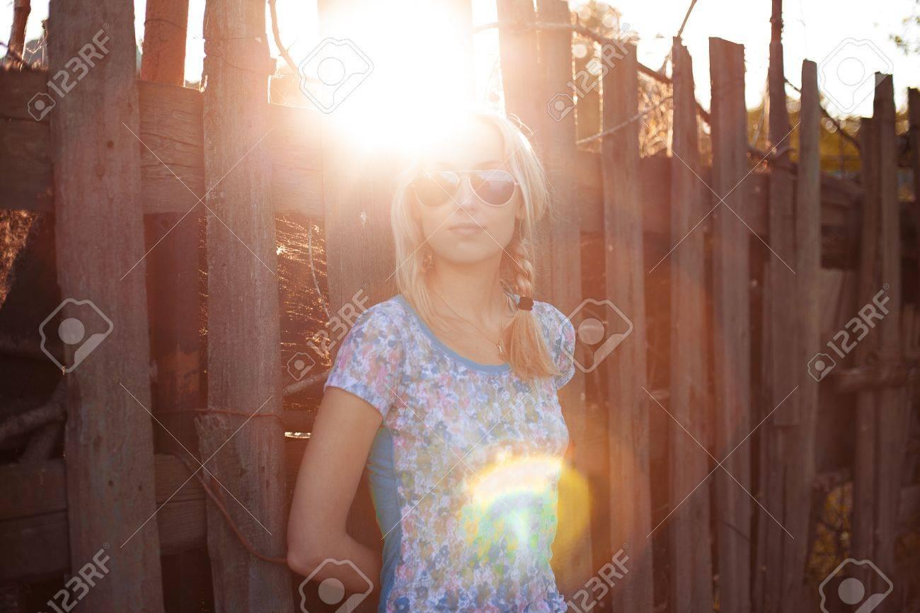 Фото блондинка с косой 7 фотография