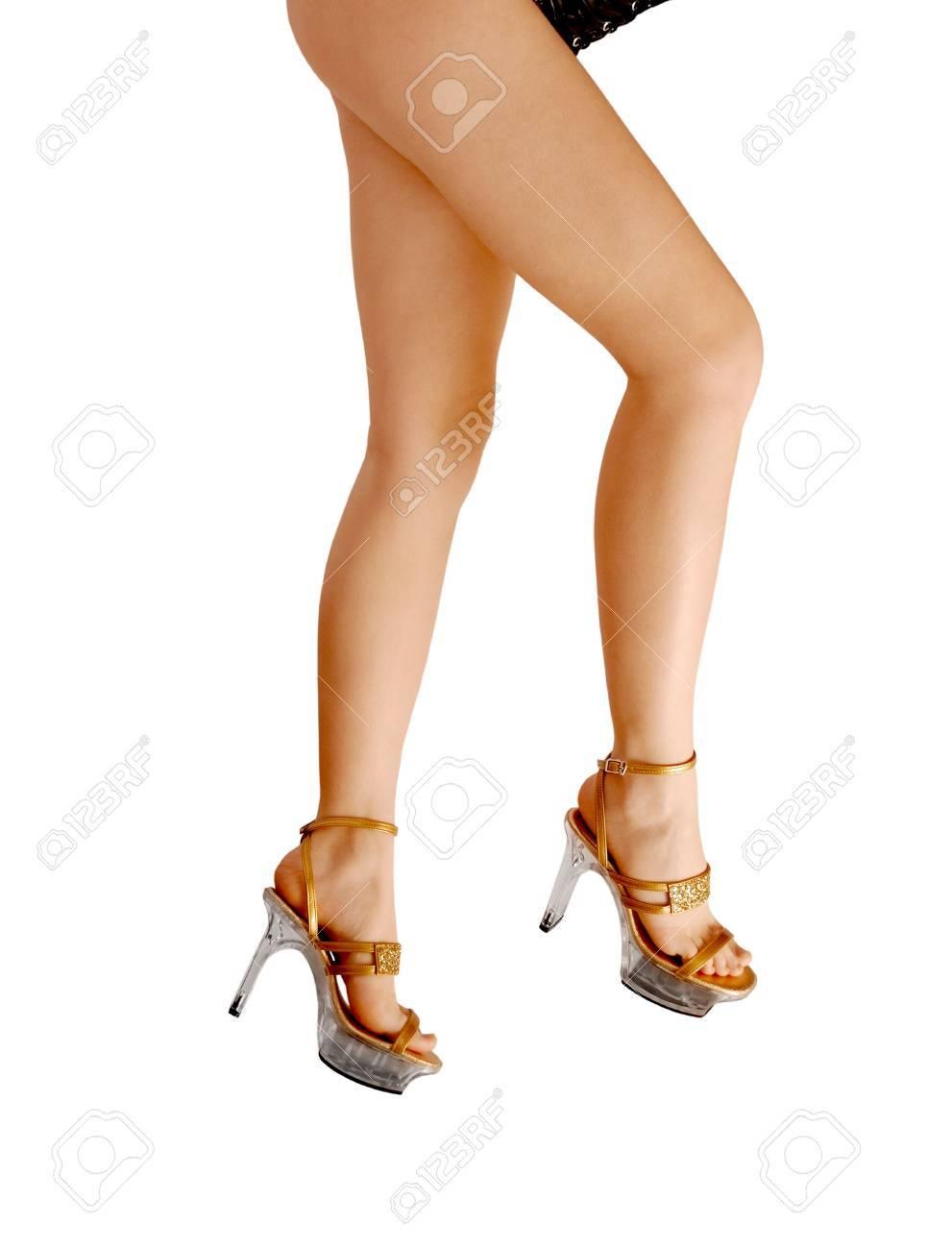 Proportionnée Hauts Bien Jambes Des Femmes Nues Sandales En Talons dxoBCe
