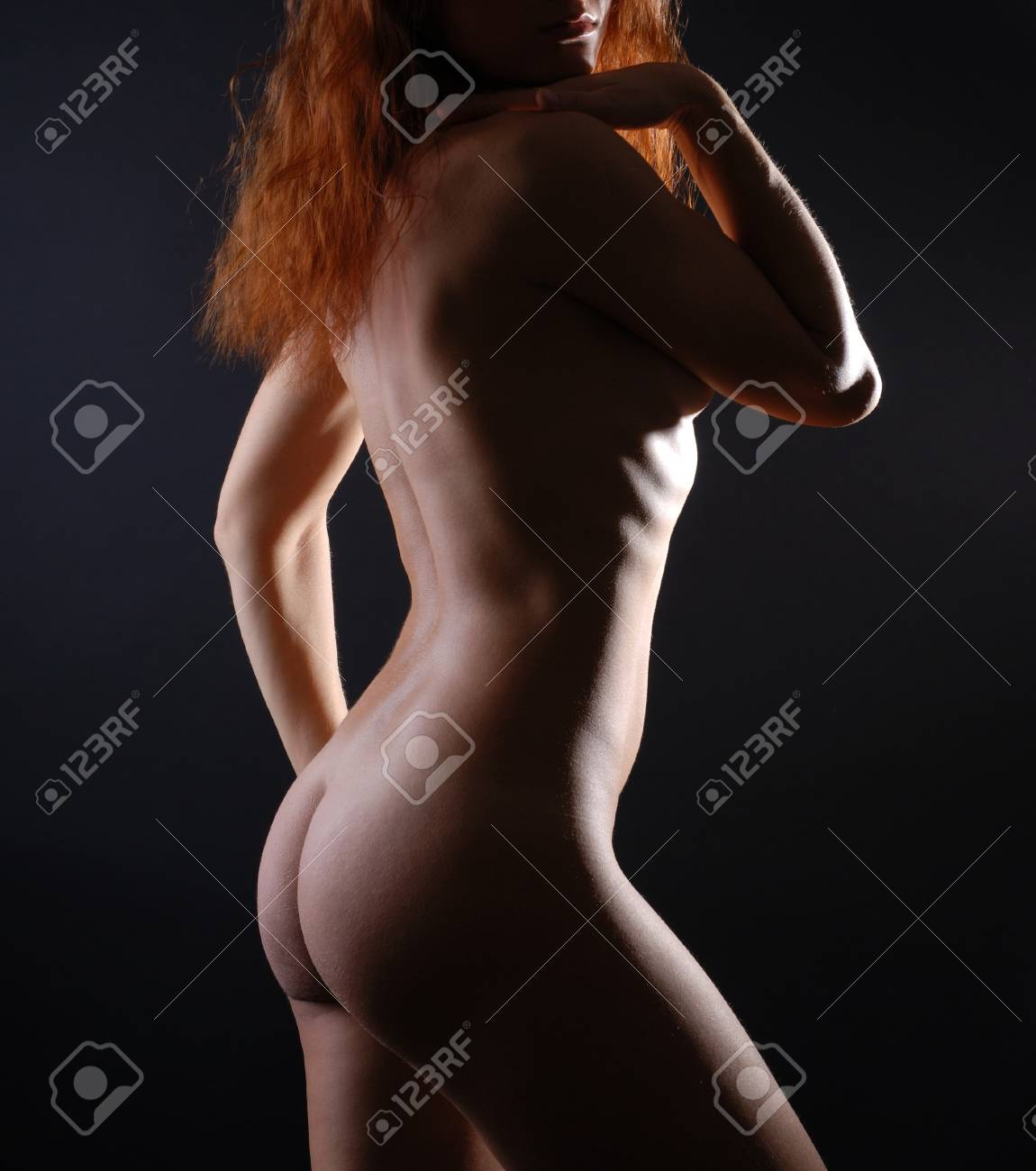 Tempting lines and curves of female body, side view Stock Photo - 4258401