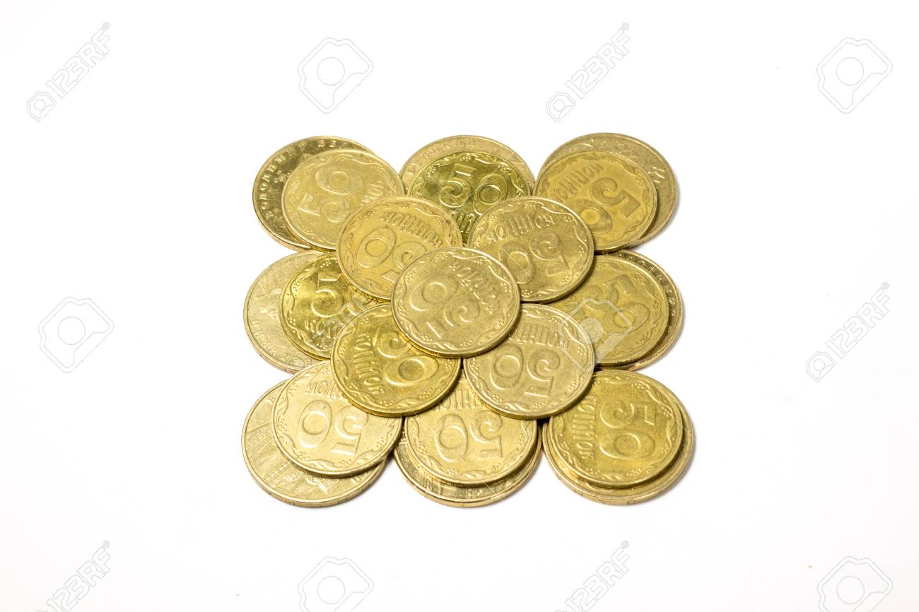 Ukrainische Münzen Hergestellt Aus Metall Feststoffe