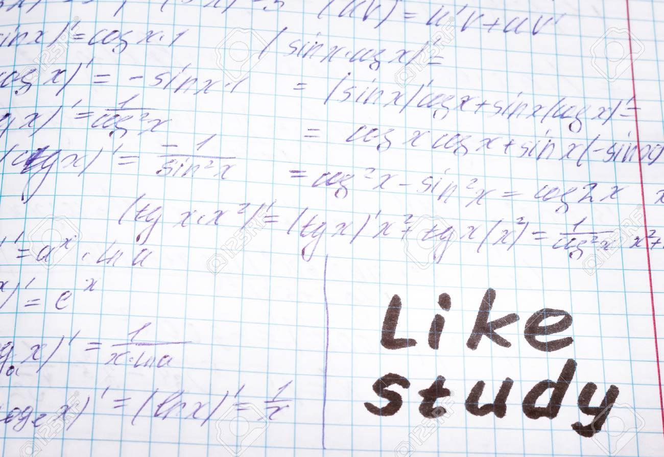 Zusammenfassung Von Vorlesungen über Algebra In Einfacher Form Inschrift In Englisch Wie Studium
