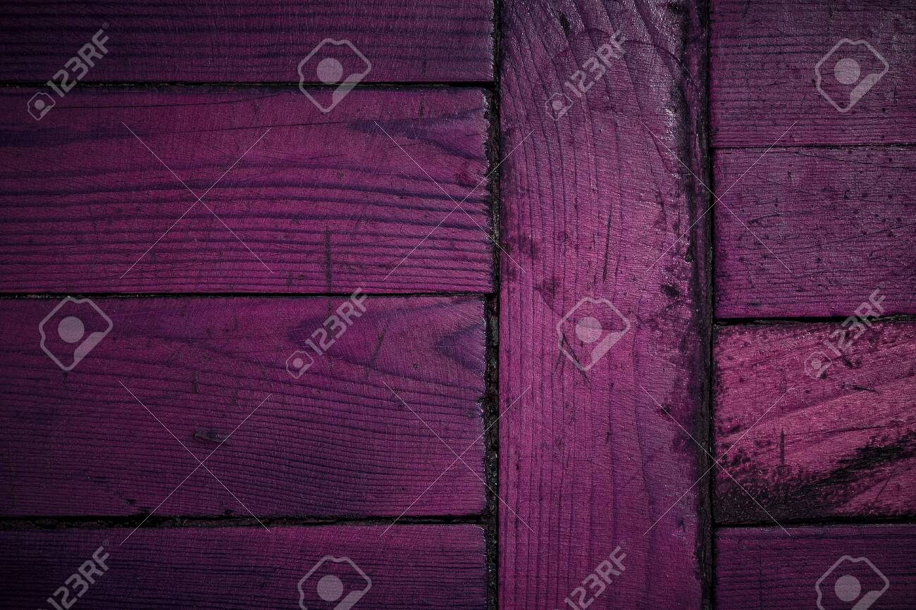 texture of purple wooden planks close-up mysterious abstraction background for design - 121718410