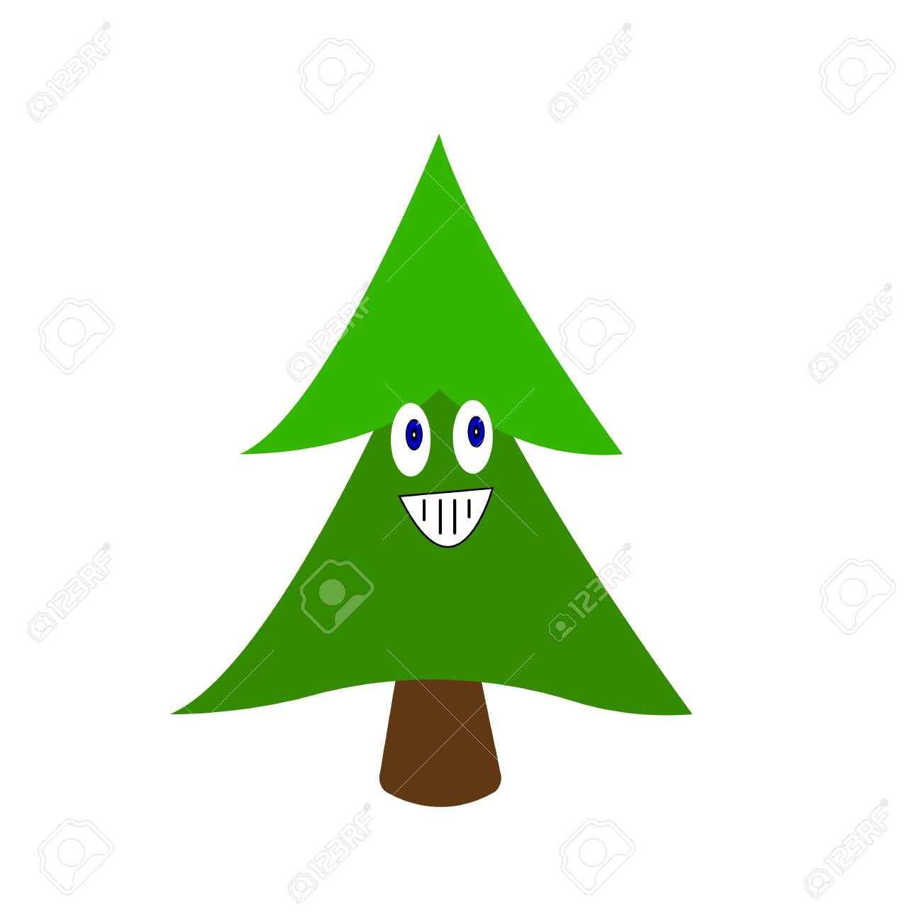 Green Spruce Cartoon Character With Smile And Blue Shining Eyes Royalty Free Cliparts Vectors And Stock Illustration Image 143290845 Find & download free graphic resources for christmas tree cartoon. 123rf com