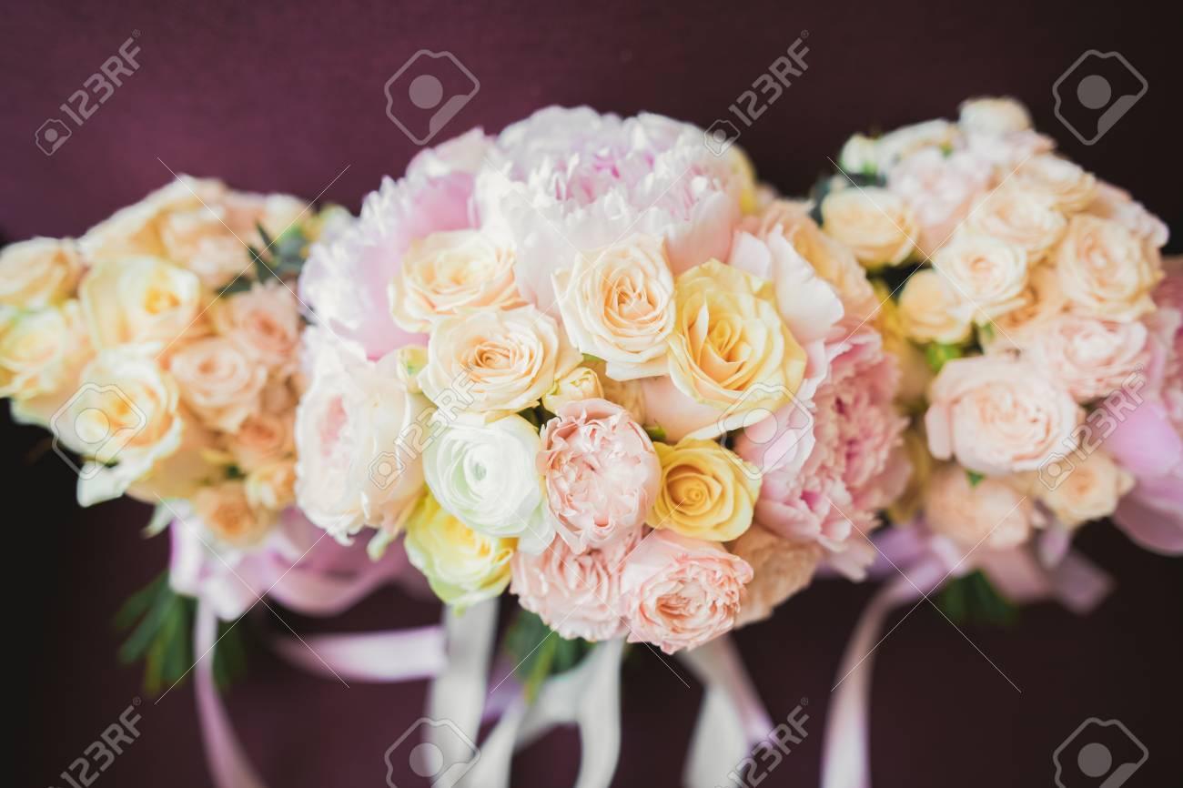 Wonderful luxury wedding bouquet of different flowers stock photo stock photo wonderful luxury wedding bouquet of different flowers izmirmasajfo Gallery