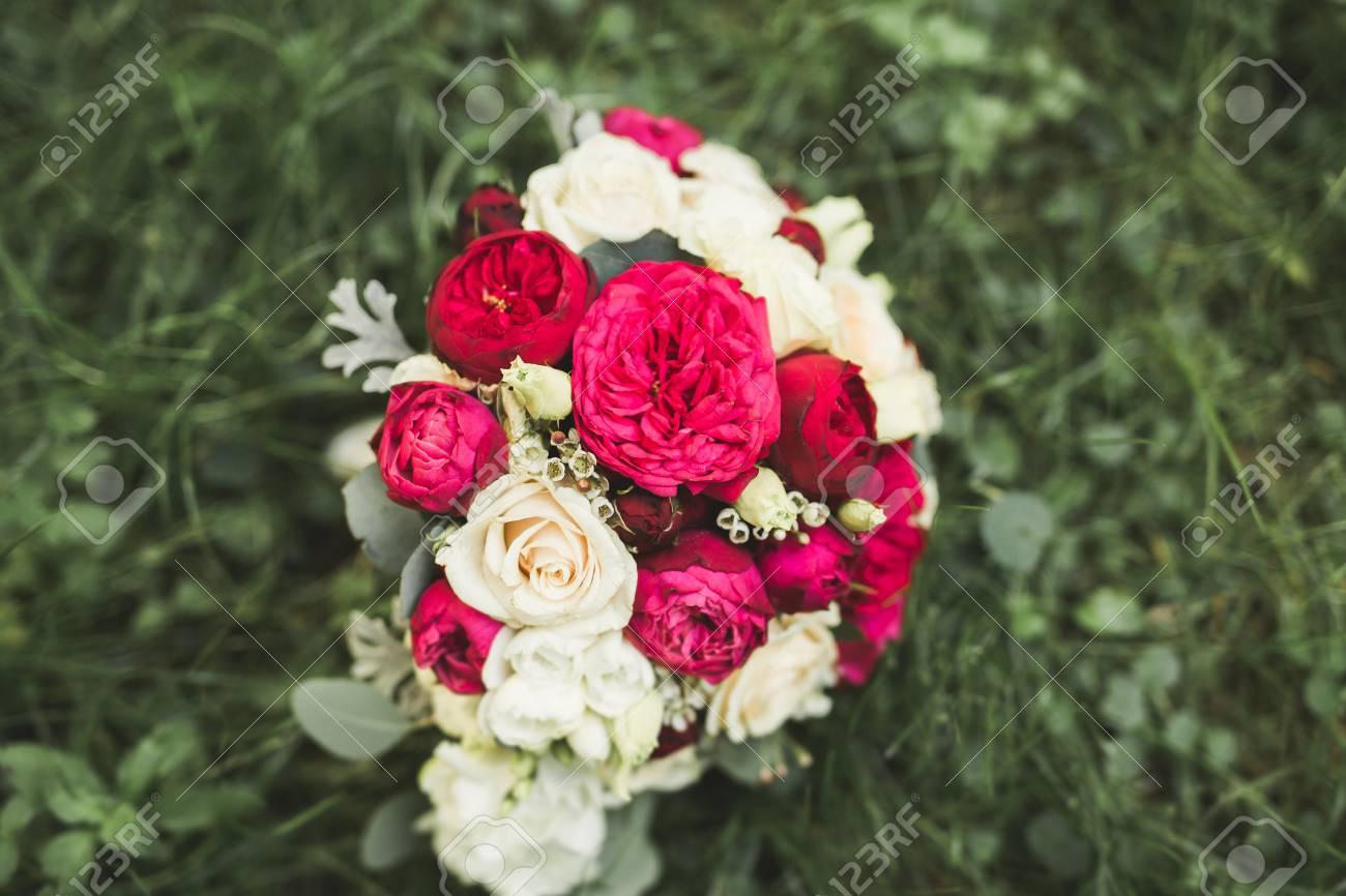 Wonderful luxury wedding bouquet of different flowers stock photo stock photo wonderful luxury wedding bouquet of different flowers izmirmasajfo