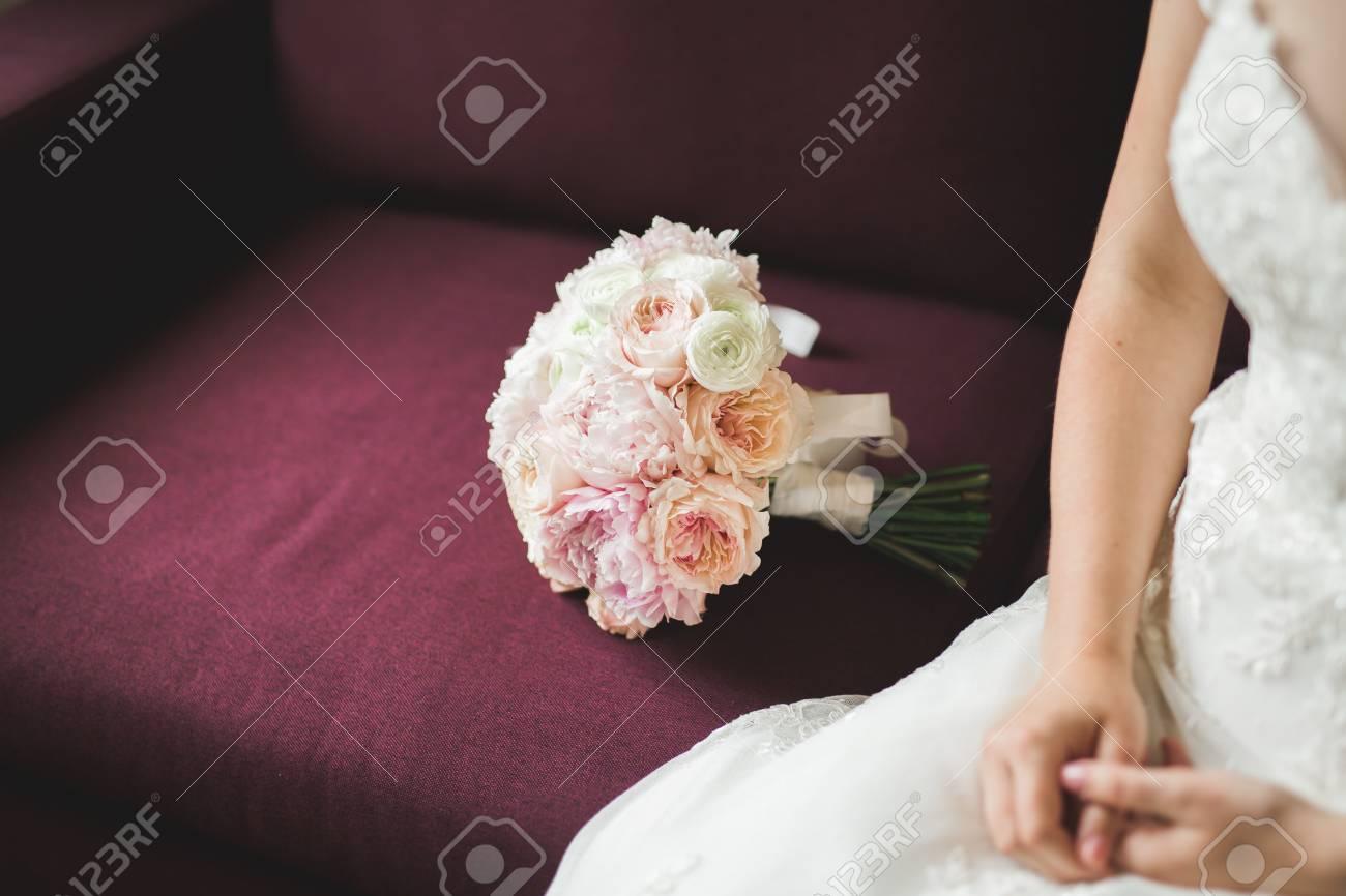 Wunderschone Luxus Hochzeit Bouquet Von Verschiedenen Blumen