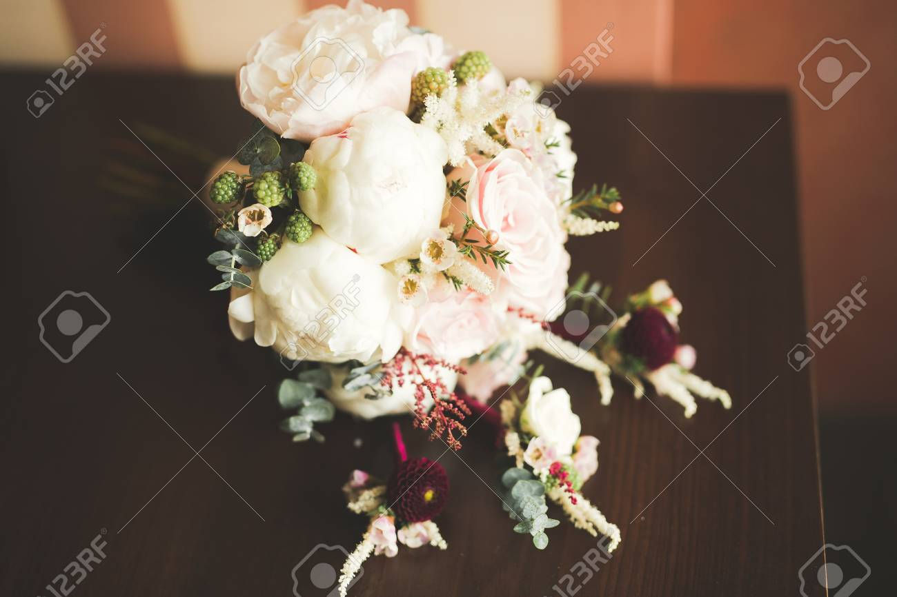 Beautiful wedding bouquet with different flowers roses stock photo beautiful wedding bouquet with different flowers roses stock photo 90453985 izmirmasajfo