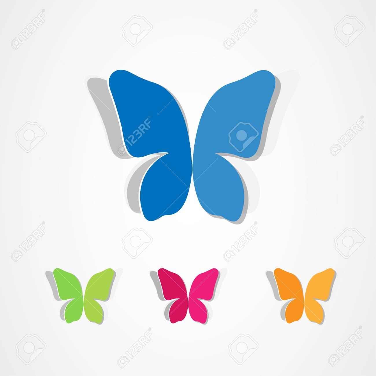 Butterfly icons set royalty free cliparts vectors and stock butterfly icons set stock vector 33881426 biocorpaavc Image collections