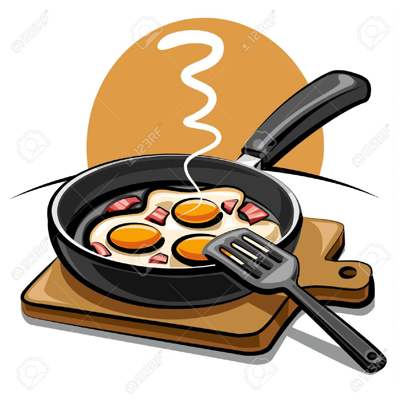 fried eggs with bacon Stock Vector - 8949325