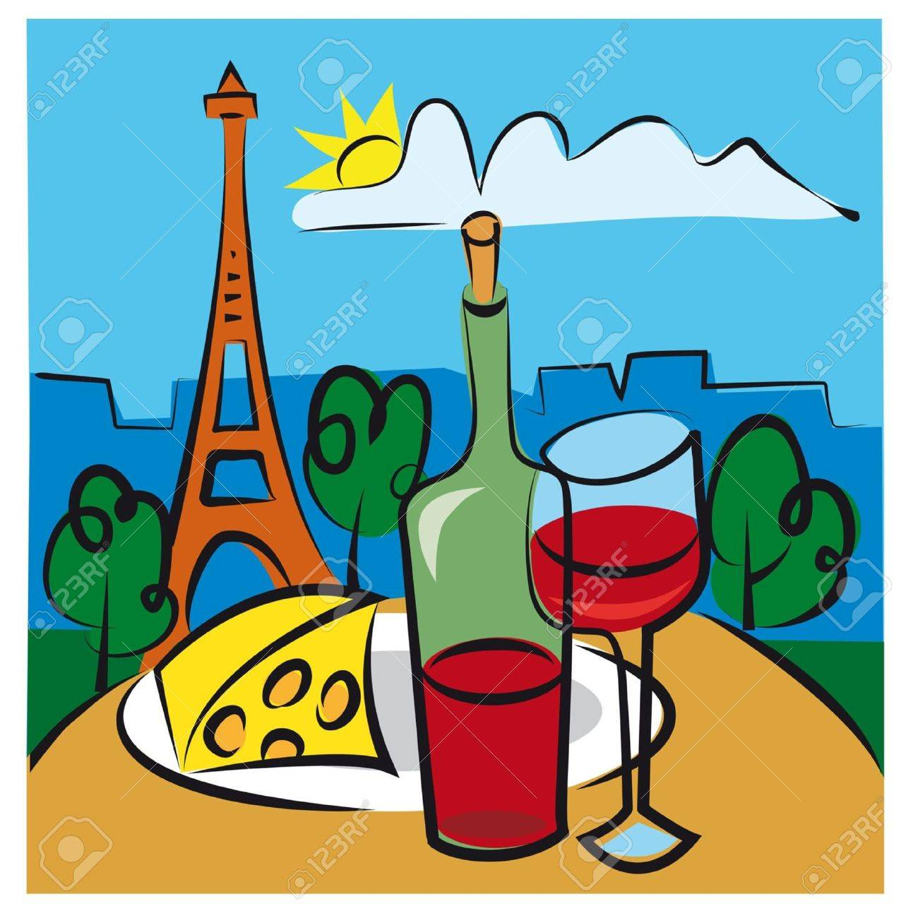 french wine royalty free cliparts vectors and stock illustration rh 123rf com Ladies Wine Clip Art Wine Drop Clip Art