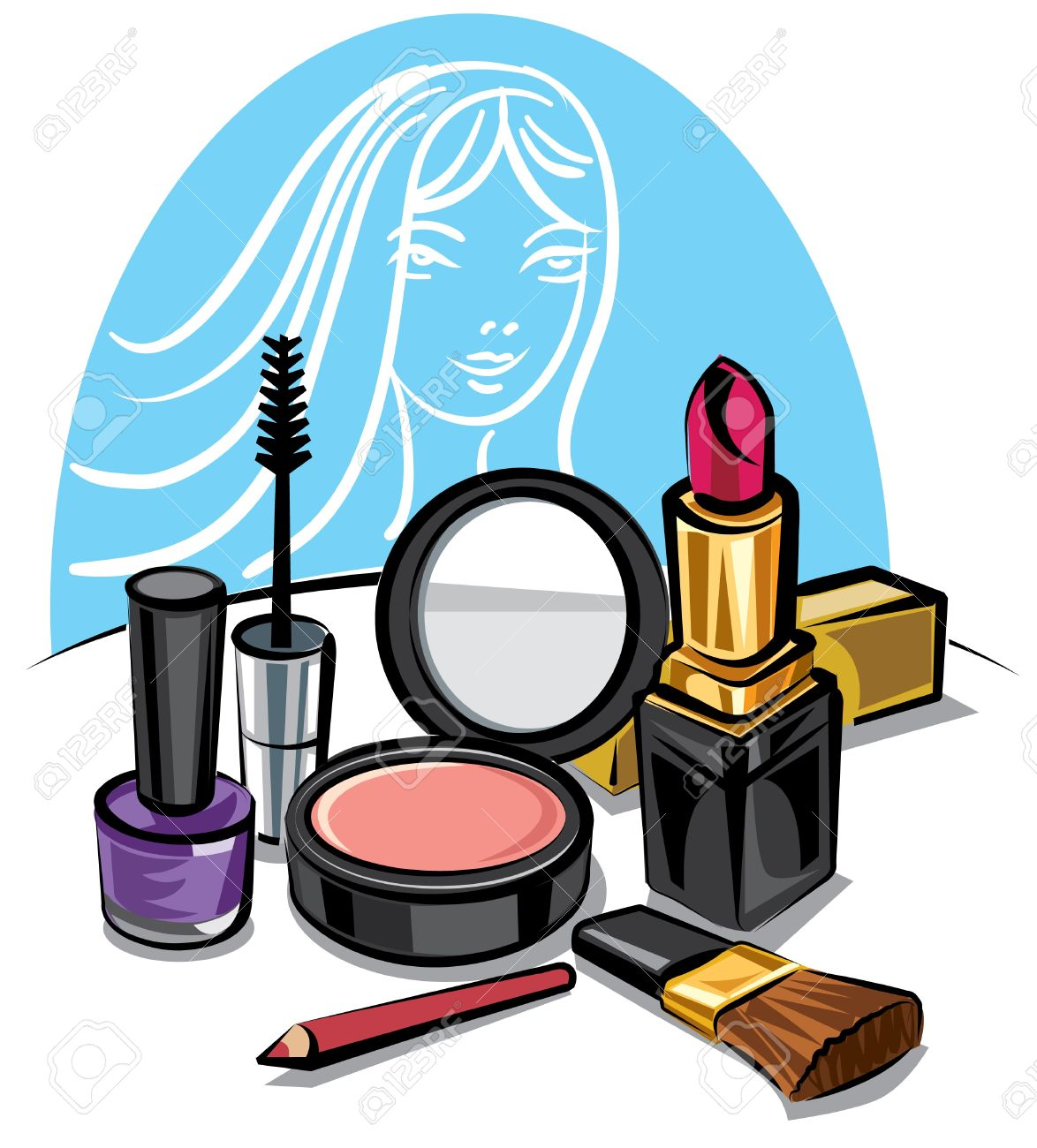 cosmetic make up kit Stock Vector - 9602677
