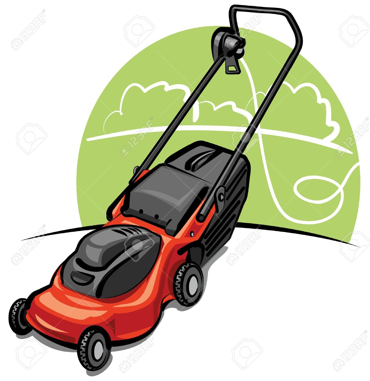 Lawn Mower Royalty Free Cliparts Vectors And Stock Illustration Image 9655556