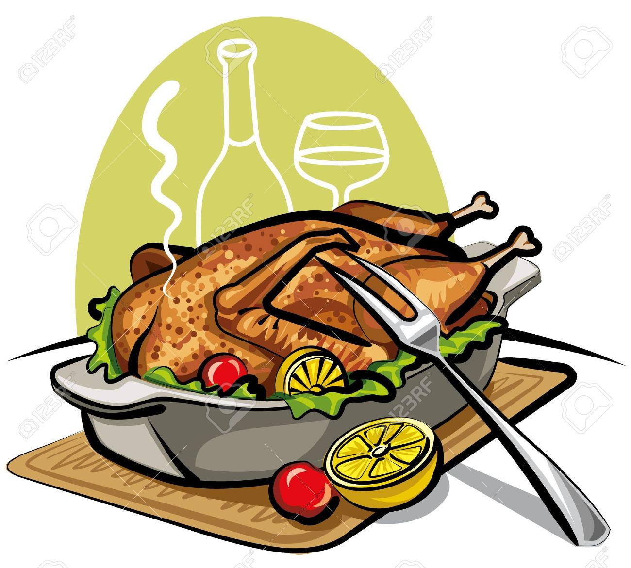 Roasted Chicken Clipart - More information