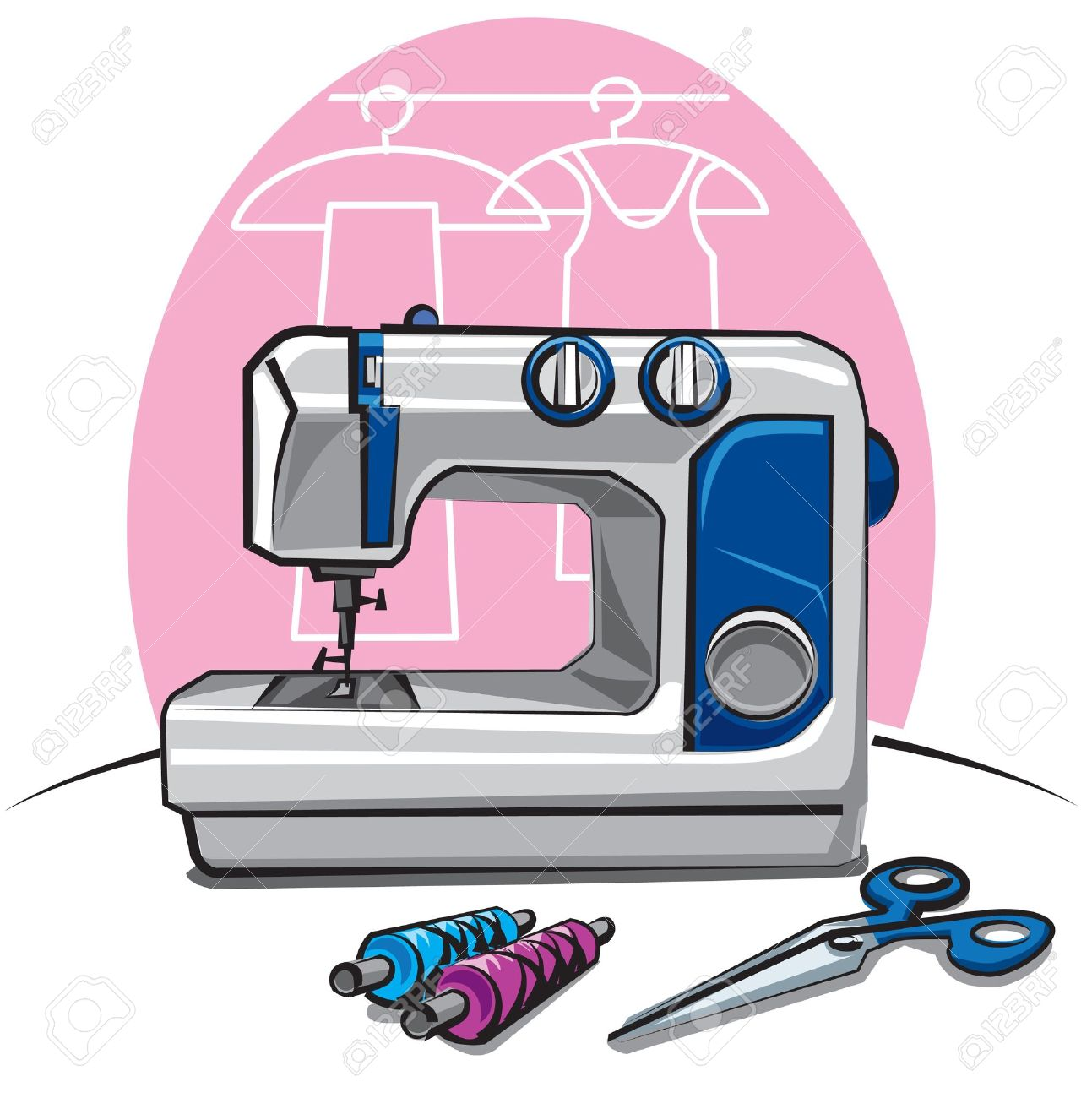 sewing machine Stock Vector - 9602727