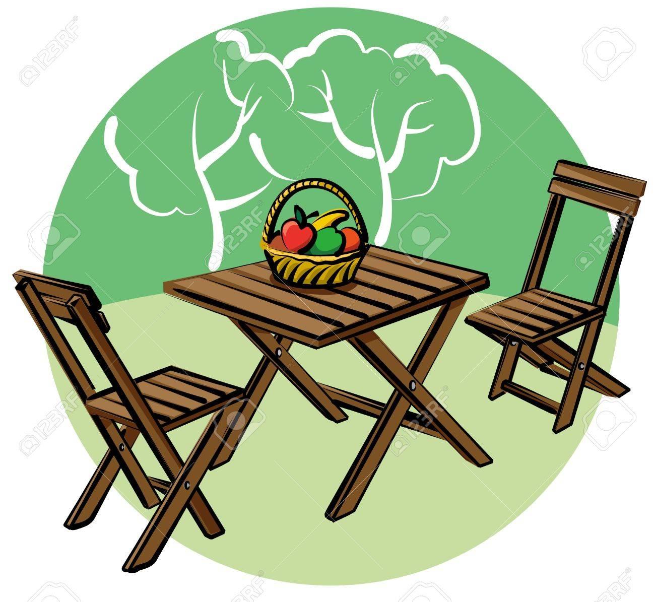 garden furniture Stock Vector - 9945928