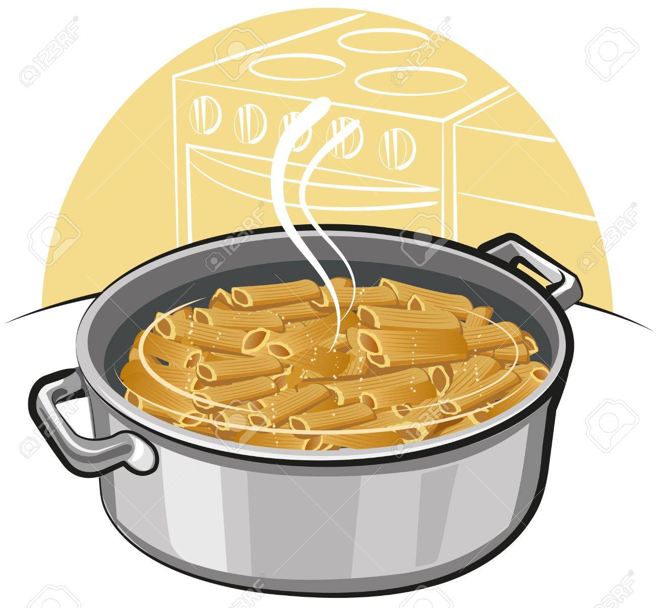 pasta in the pot Stock Vector - 10399197