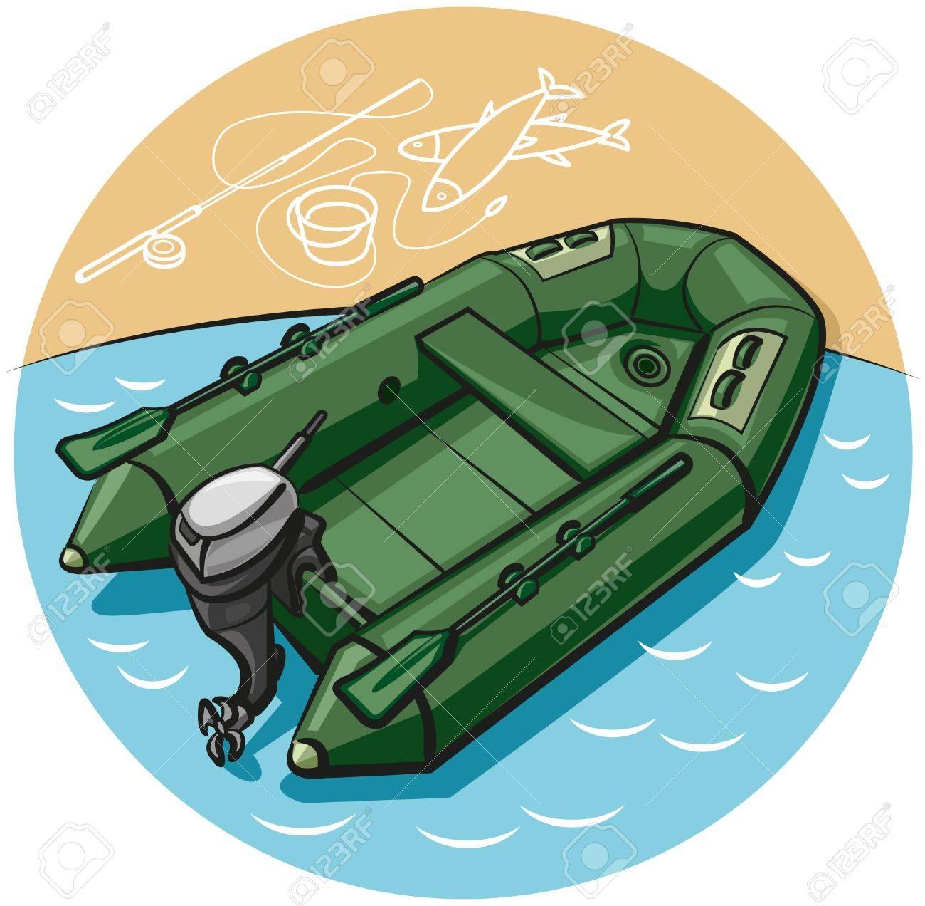 лодки пвх вектор