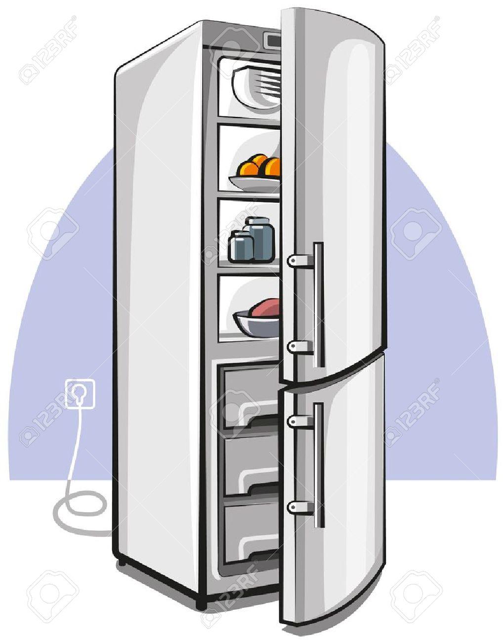Kühlschrank Mit Zwei Türen Lizenzfrei Nutzbare Vektorgrafiken, Clip ...