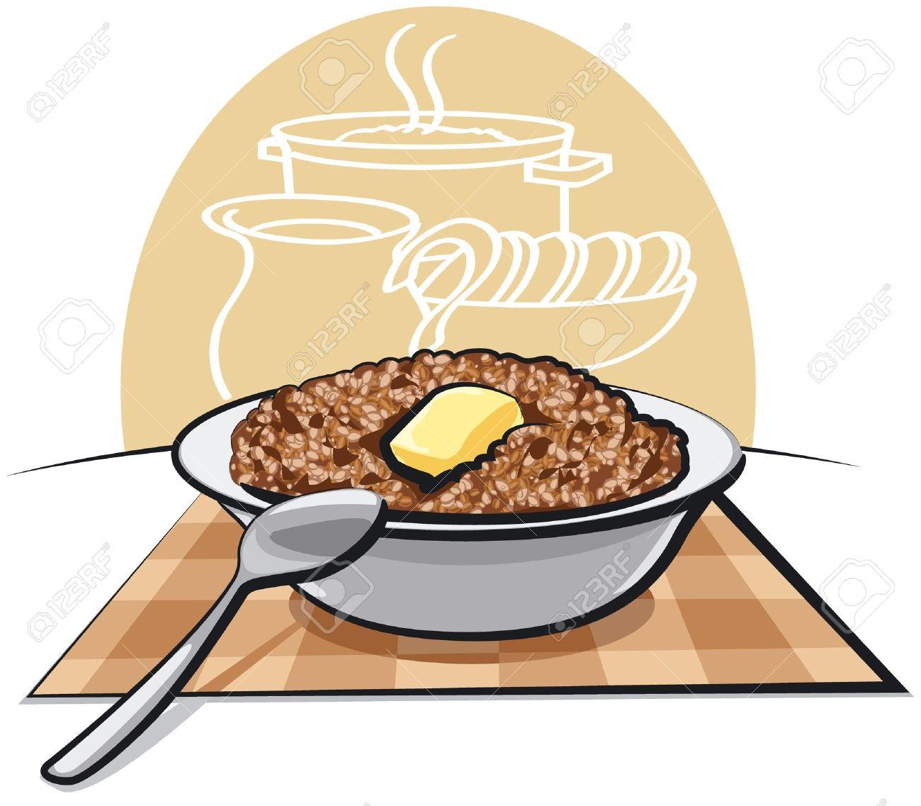 Boiled buckwheat porridge Stock Vector - 13343025