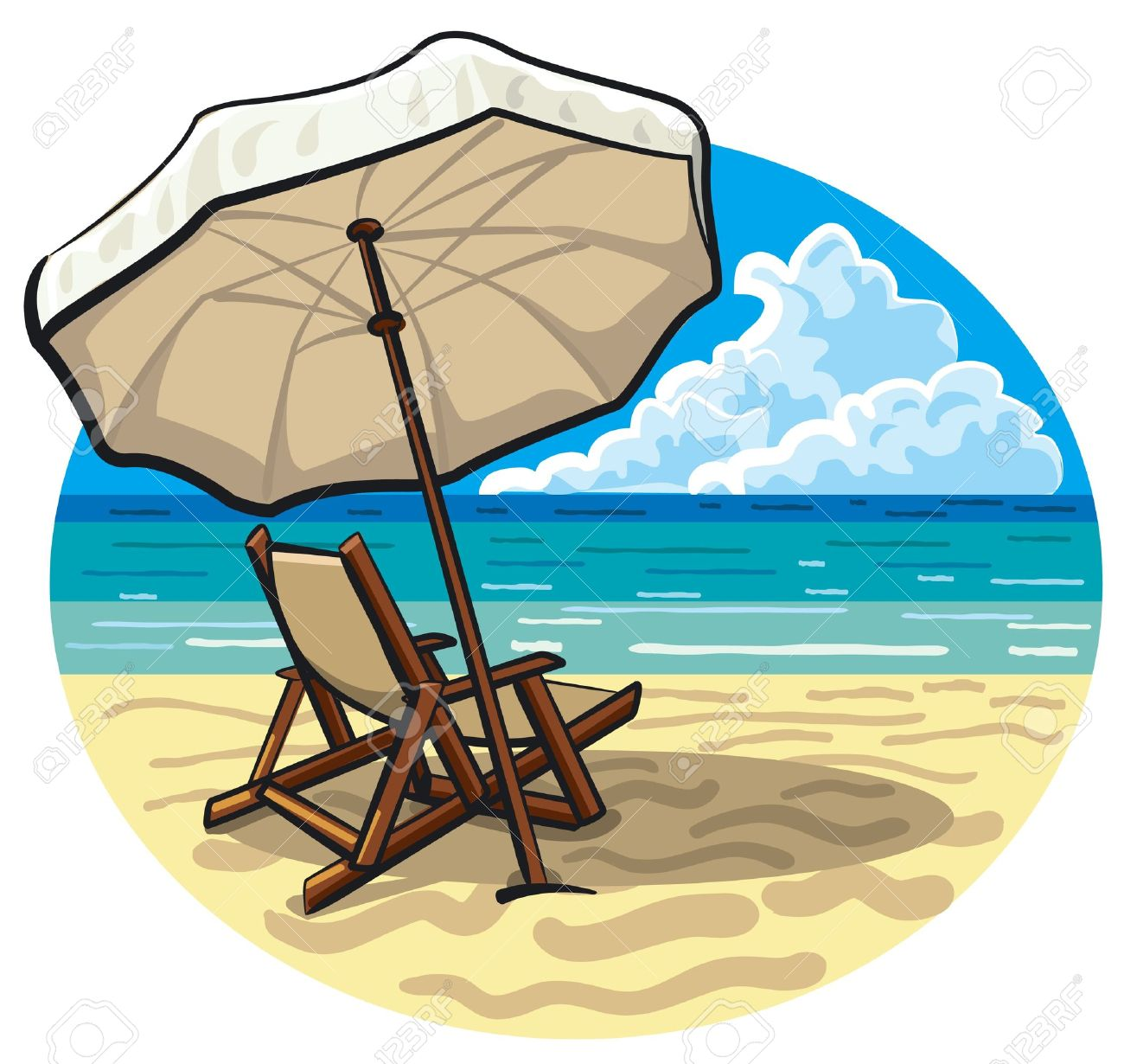 Beach chair and umbrella royalty free cliparts vectors and stock beach chair and umbrella stock vector 15516440 voltagebd Gallery
