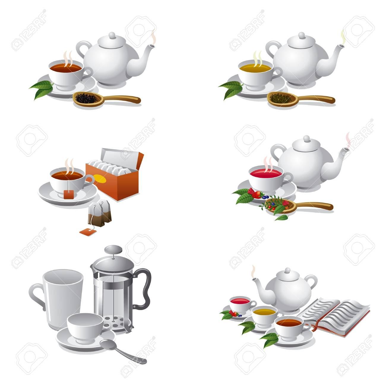 set of tea web icons Stock Vector - 17939759