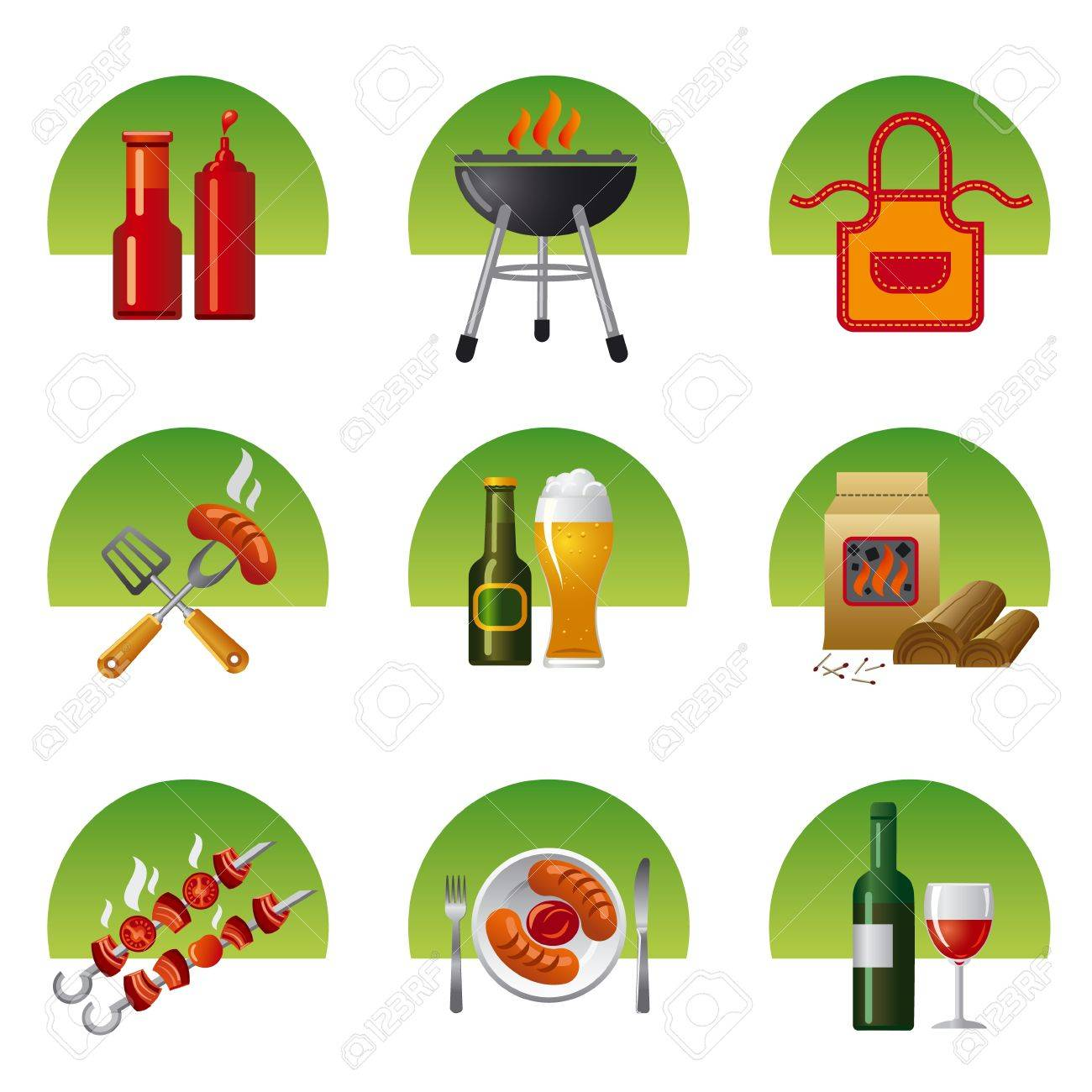 1,959 Barbecue Utensils Stock Vector Illustration And Royalty Free ...