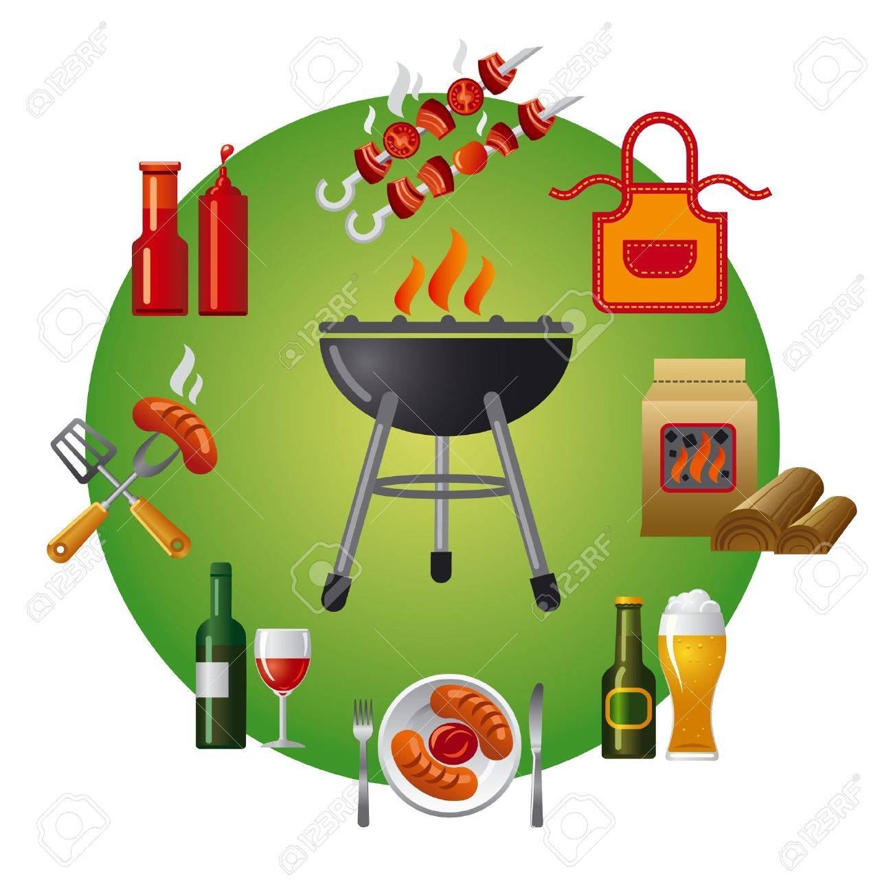barbecue icon Stock Vector - 19234372