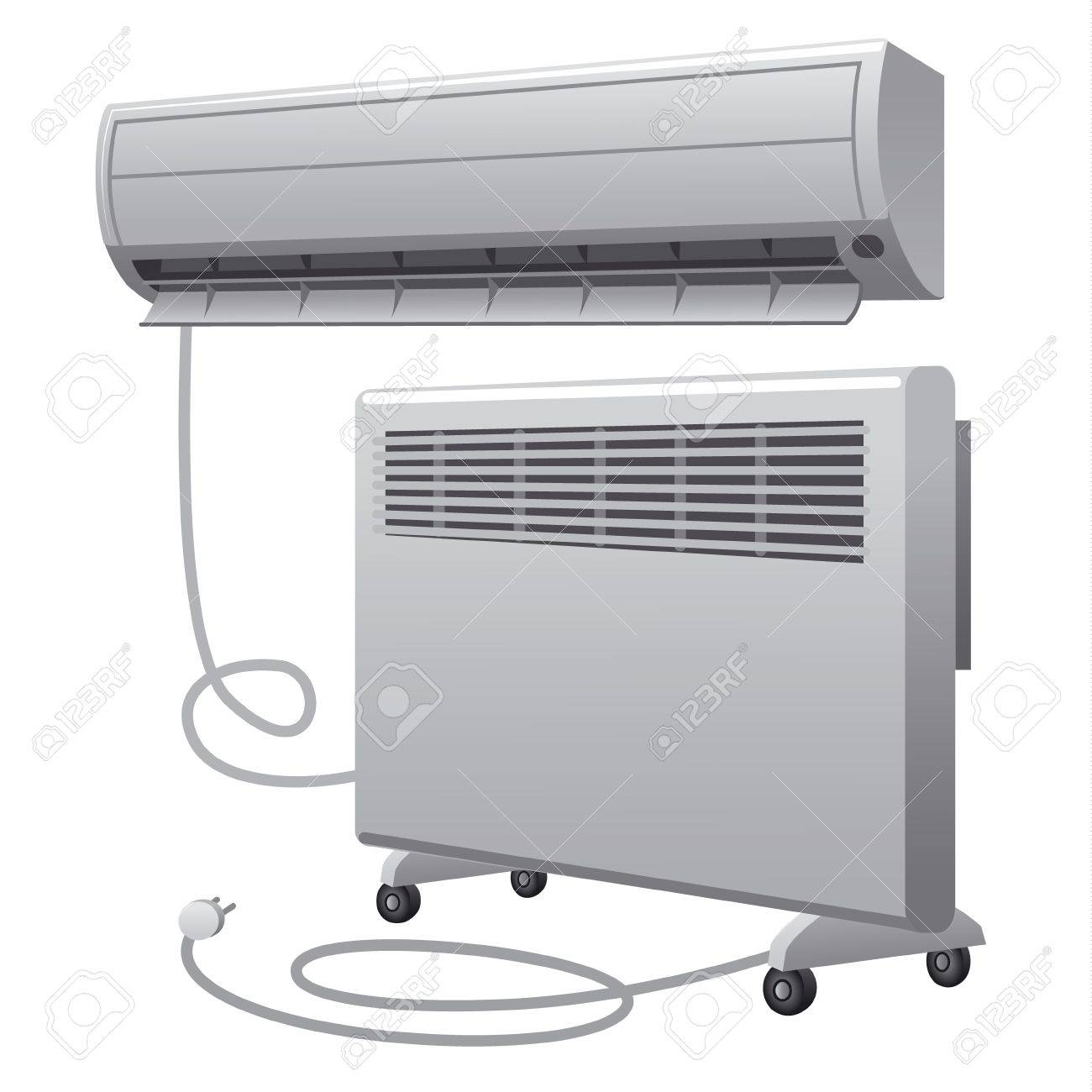 air conditioning and oil heater Stock Vector - 19979157