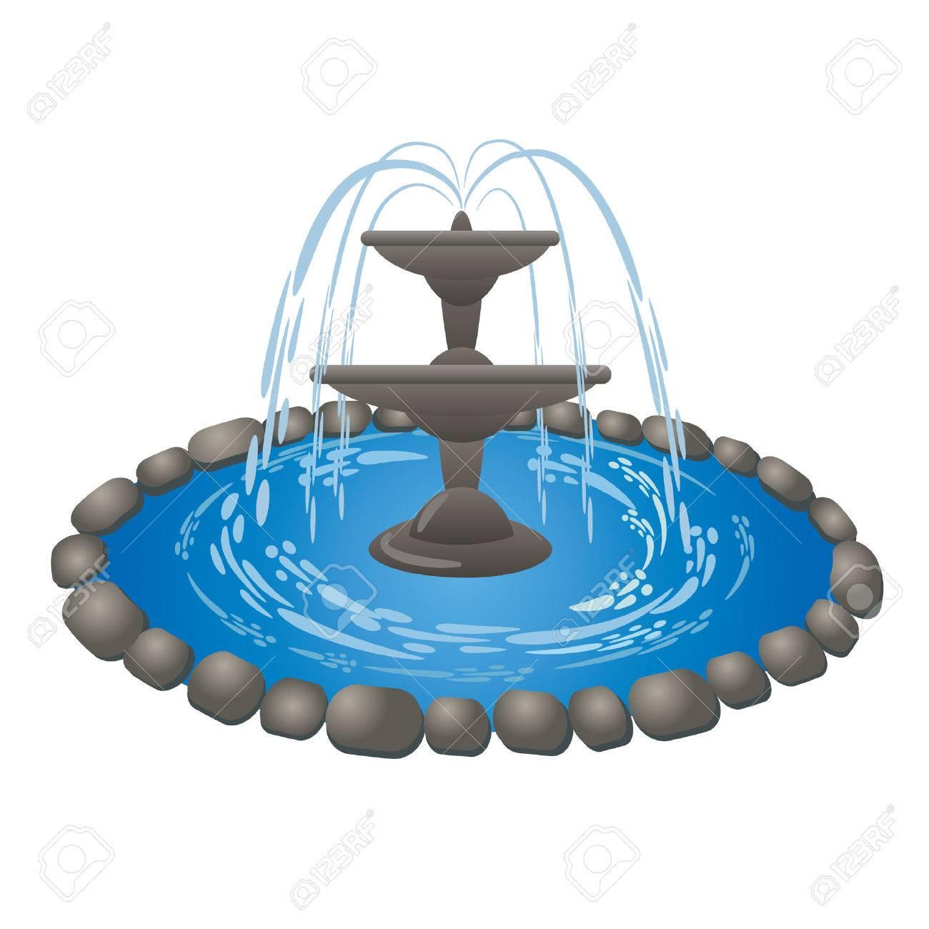 fountain Stock Vector - 31657006