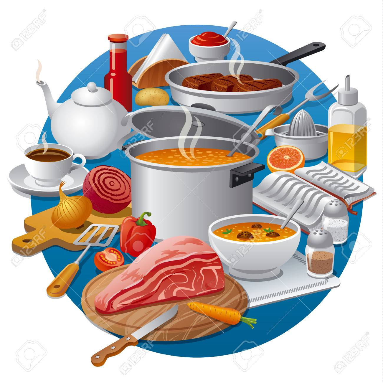 cooking food royalty free cliparts vectors and stock illustration rh 123rf com