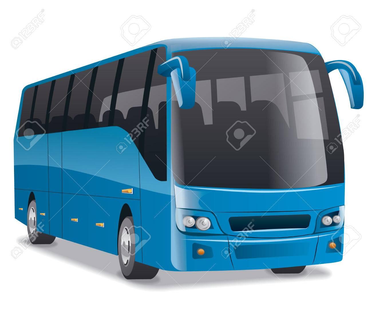 Vettoriale - Autobus Blu Della Città Image 55365883.