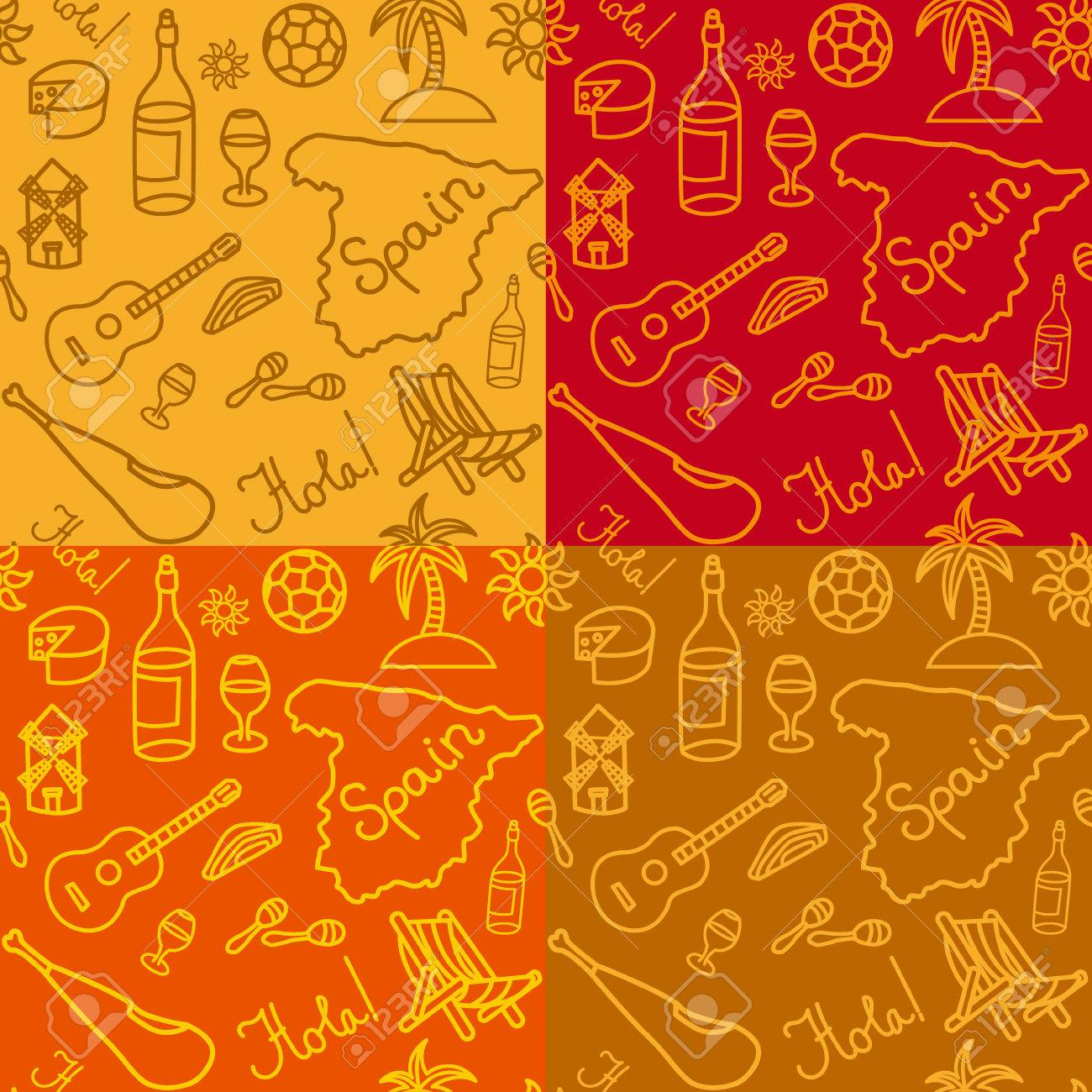 Illustration of spanish culture seamless pattern background illustration of spanish culture seamless pattern background stock vector 67744452 voltagebd Gallery