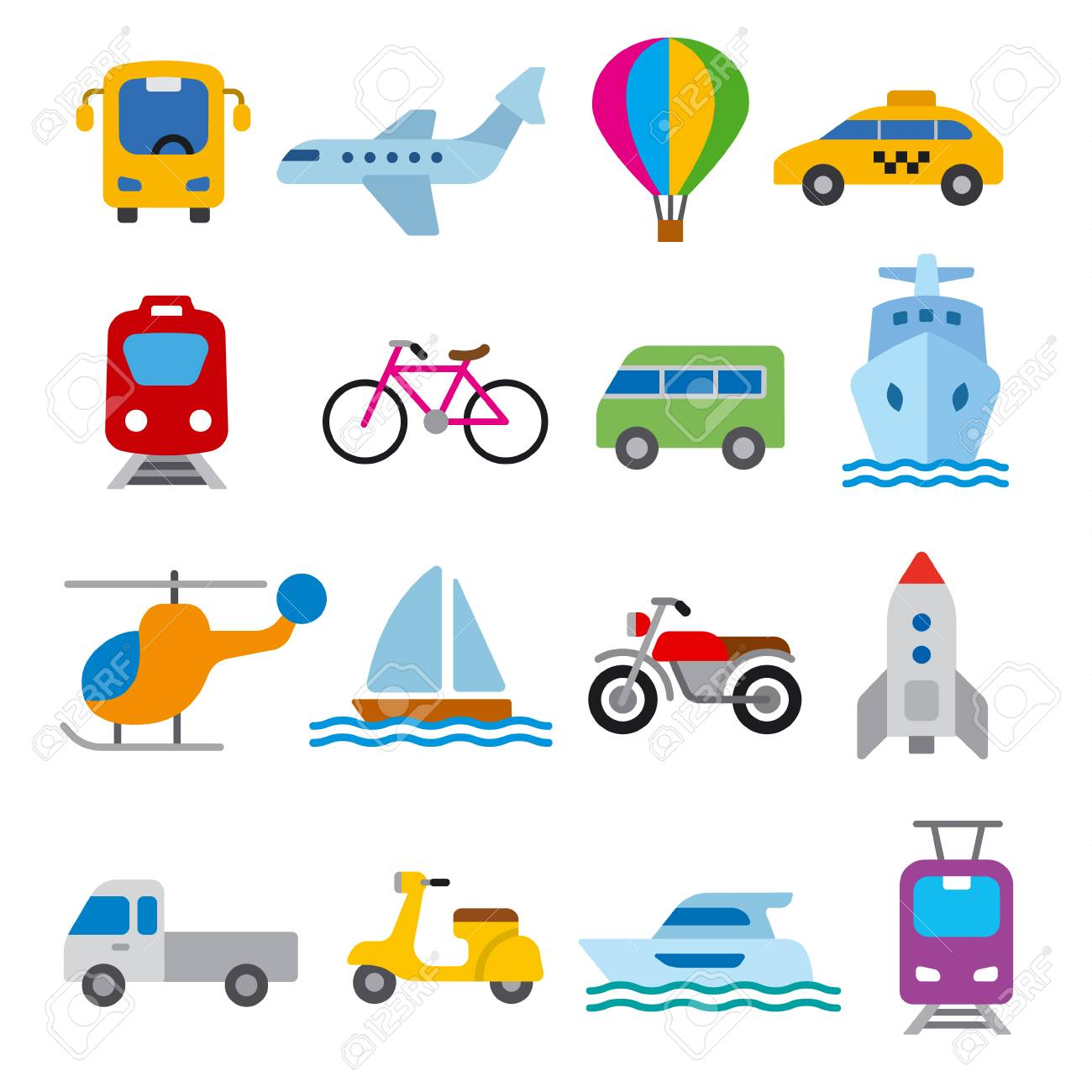 set of illustrations for concept icons of transport - 125862041