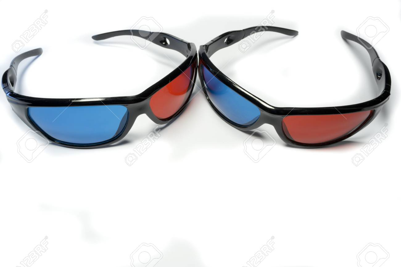 Red-blue glasses to see the stereo movies Stock Photo - 15431963