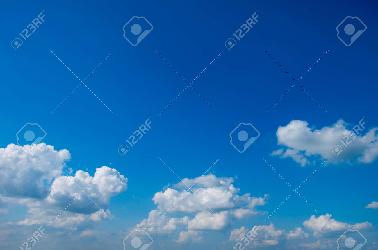 blue sky with clouds background - 169253827