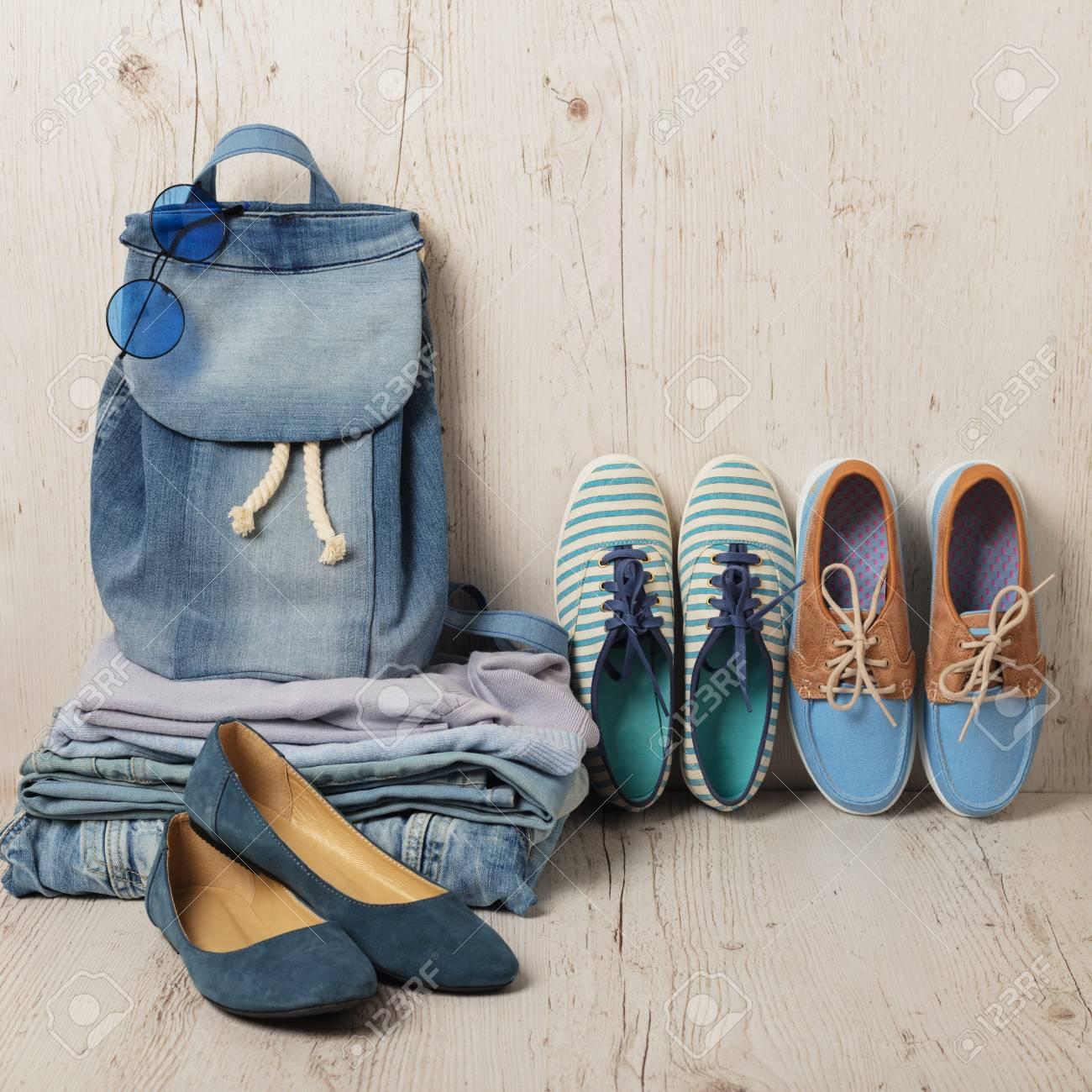 profiter de gros rabais dernier style de 2019 vraie affaire Denim fashion set - vêtements, chaussures et accessoires. Mise au point  sélective