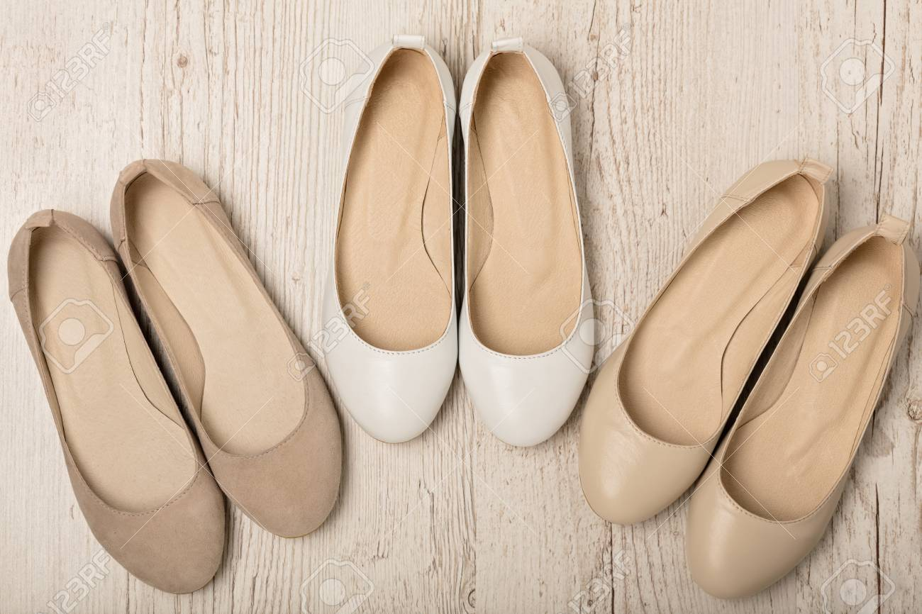 Women Shoes (ballet Flats) White And