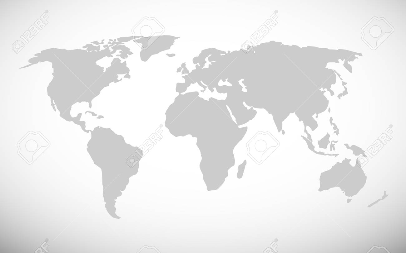 Simple World Map Vector Illustration Royalty Free Cliparts Vectors