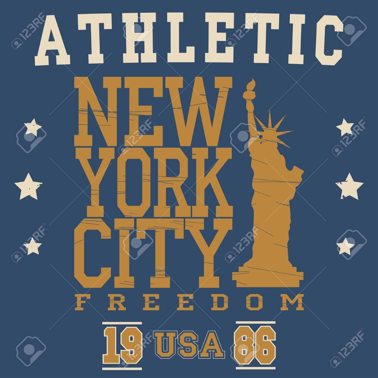 416665f3 New York Brooklyn Sport wear typography emblem, t-shirt print, athletic  apparel design