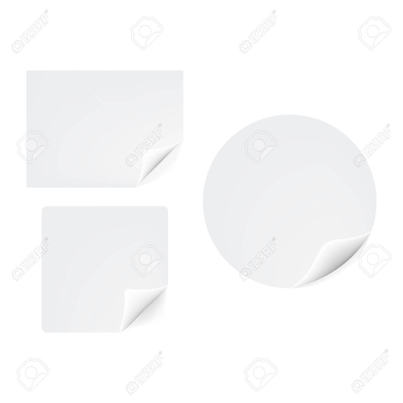 Gebogene papier aufkleber icon vector illustration design - 144721993